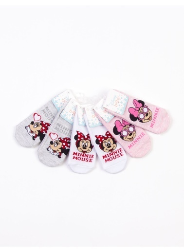 Minnie Mouse   Lisanslı 6 Çift Bebek Çorap 18220 Kırmızı